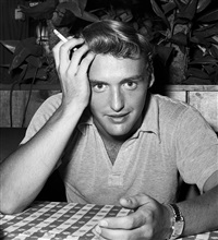 dennis hopper at musso & frank grill hollywood by frank worth