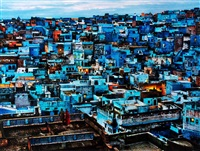 blue city, rajasthan, jodhpur, india by steve mccurry