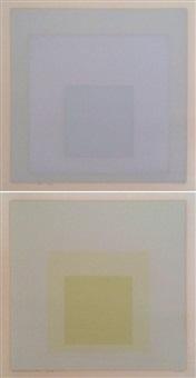 grey instrumentation ii d & e (2 works) by josef albers
