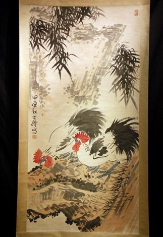 scroll painting of famous chinese artist li keran by li keran on artnet