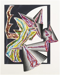 then came death and took the butcher (from illustrations after el lissitzky's had gadya) by frank stella