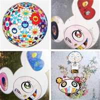 flower ball (3-d) sequoia sempervirens (+ 3 others; 4 works) by takashi murakami