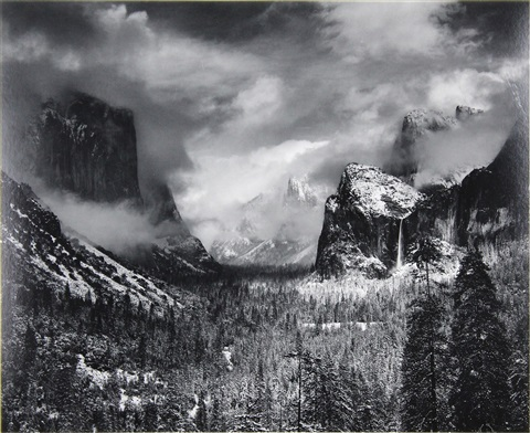 Clearing Winter Storm, Yosemite National Park, California ...Ansel Adams Clearing Winter Storm