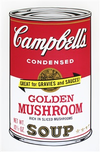 golden mushroom (from campbell's soup ii) by andy warhol