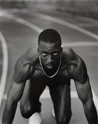 michael johnson, us olympic track, north atlanta high school, atlanta, georgia by annie leibovitz