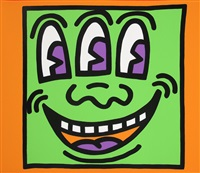 three eyed (from icons) by keith haring