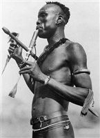 flute player, niambari by hugo adolf bernatzik
