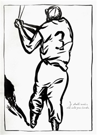 untitled (i shall render all into your hands) by raymond pettibon