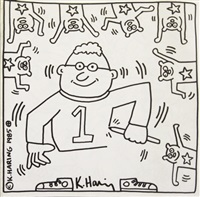 20 lithographs (coloring book) by keith haring