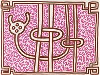 chocolate buddha 5 by keith haring