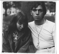 girl and boy in washington square park nyc by diane arbus