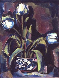 white tulips by charles sheeler