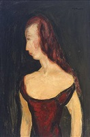 girl in red dress ii by alfred henry maurer
