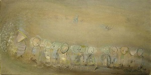 procession of small beings by loren maciver