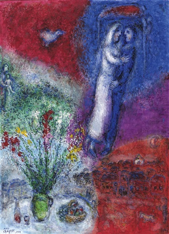 Les mariés by Marc Chagall on artnet