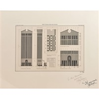 building elevation for at&t world headquarters in new york by philip johnson