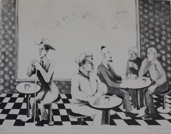 new york cafe by benny andrews on artnet