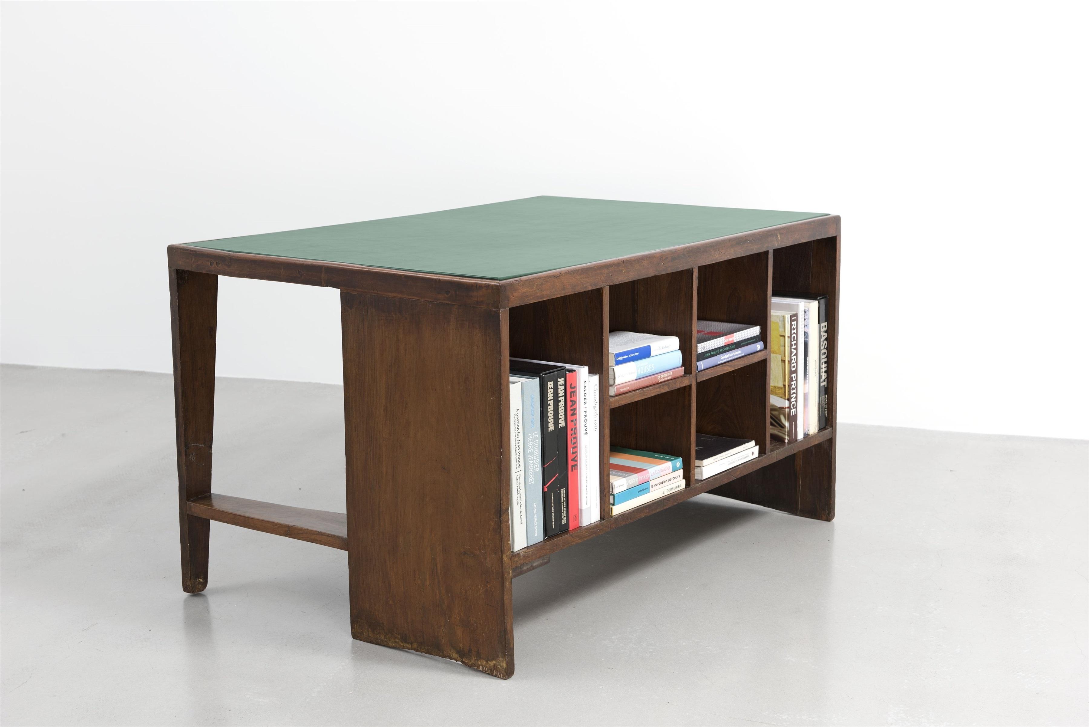 Bureau casier Pigeonhole desk by Pierre Jeanneret on artnet