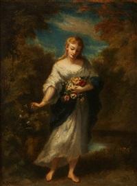 Lady holding parasol