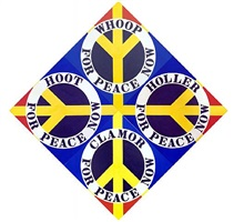 four diamond peace (blue) by robert indiana