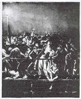 the crowd (second state, from the men like god series) by george wesley bellows