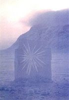 began work out in the fiord... ellesmere island, 5. april 1989 by andy goldsworthy