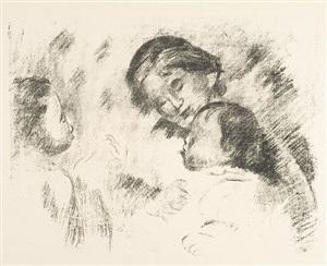 une mere et deux enfants by pierre-auguste renoir
