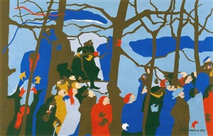 the swearing in no. 1 by jacob lawrence