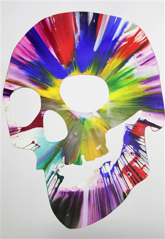 Skull Spin Painting Created At Damien Hirst Spin Workshop By Damien Hirst On Artnet