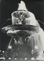 fountain, place de la concorde by ilse bing
