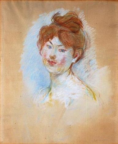 tête de jeune fille (jeanne-marie) by berthe morisot