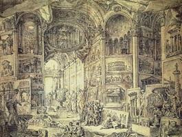galerie des vues de la rome antique by giovanni paolo panini