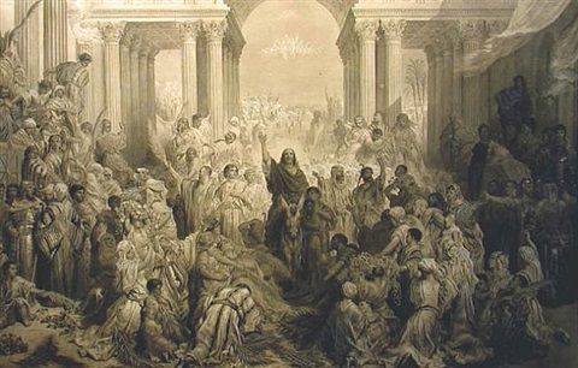 l'entrée du christ à jérusalem by gustave doré