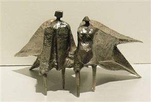 miniature walking figures (780a) by lynn chadwick