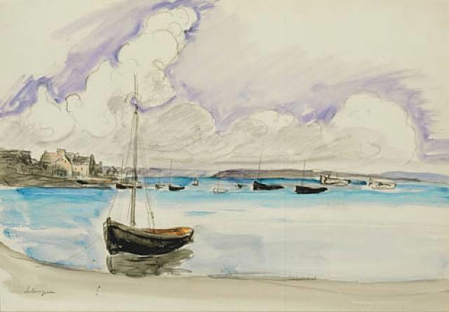la barque au port by henri lebasque