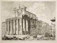 The Temple of Antoninus and Faustina (Veduta , 1758