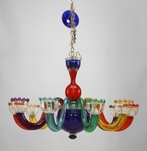 Italian multicolored murano glass chandelier by gio ponti on artnet italian multicolored murano glass chandelier by gio ponti mozeypictures Image collections