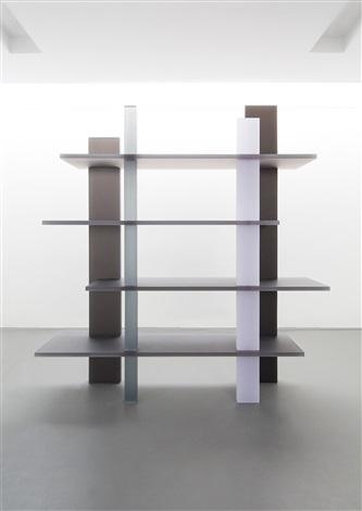 Haze Bookshelf White Gray And Navy By Wonmin Park