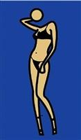 woman posing in underwear. 2 by julian opie