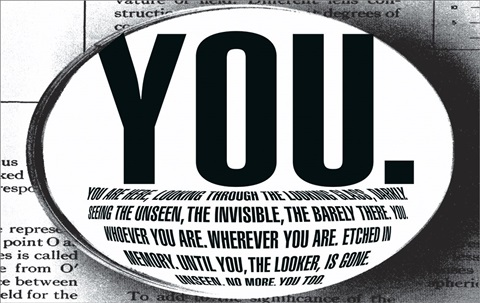 untitled (you are here) by barbara kruger