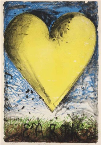 the earth yellow heart by jim dine on artnet