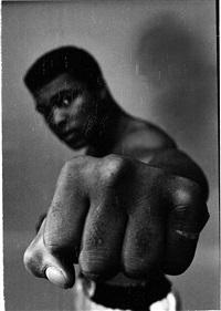 Ali black, left fist