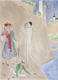conversation by nils von dardel