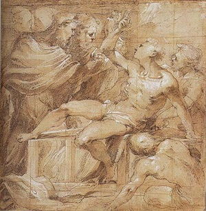 the martyrdom of saint lawrence by valerio castello