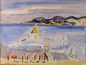 matin a cannes by yves brayer