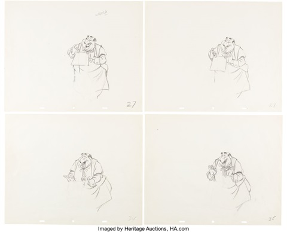 Lady And The Tramp Tony Animation Drawing Group Walt Disney 1955 Total 4 Item By Walt Disney Studios On Artnet