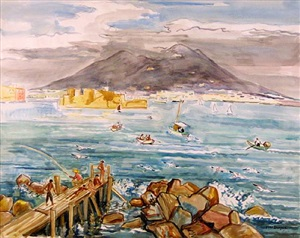 la baie de naples by yves brayer