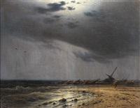 oväder med skeppsbrott by eduard hildebrandt