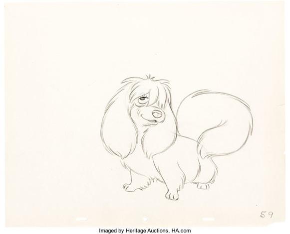 Lady And The Tramp Peg Animation Drawing Walt Disney 1955 By Walt Disney Studios On Artnet