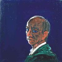 head (green scarf) by peter heinemann
